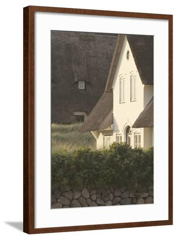 House 'Kliffende' Close Kampen (Municipality), Sylt (Island), Schleswig-Holstein, Germany-Rainer Mirau-Framed Art Print