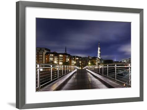 KibbelstegbrŸcke at Night, Speicherstadt, Hamburg-Mitte, Hanseatic City of Hamburg, Germany-Axel Schmies-Framed Art Print