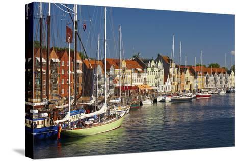 Denmark, Jutland, Sonderborg, Sailboats, Harbour, Houses, Colourful-Chris Seba-Stretched Canvas Print