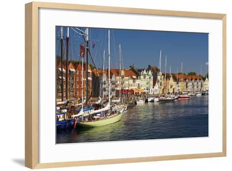 Denmark, Jutland, Sonderborg, Sailboats, Harbour, Houses, Colourful-Chris Seba-Framed Art Print
