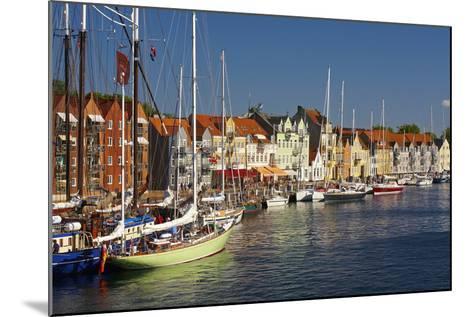 Denmark, Jutland, Sonderborg, Sailboats, Harbour, Houses, Colourful-Chris Seba-Mounted Photographic Print