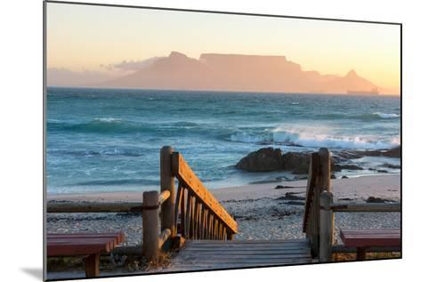 Cape Town, Table Mountain Seen from the Bloubergstrand-Catharina Lux-Mounted Photographic Print
