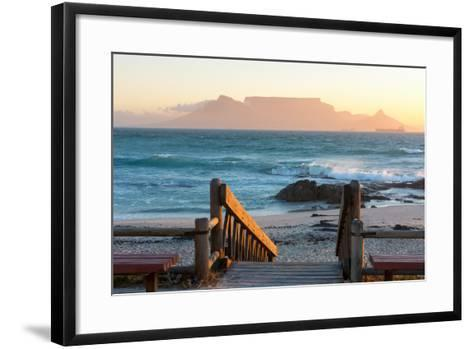 Cape Town, Table Mountain Seen from the Bloubergstrand-Catharina Lux-Framed Art Print