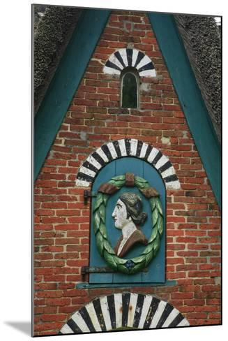 Relief over the Door of a Captain's House at the Frachtenstegelk at Keitum on the Island of Sylt-Uwe Steffens-Mounted Photographic Print