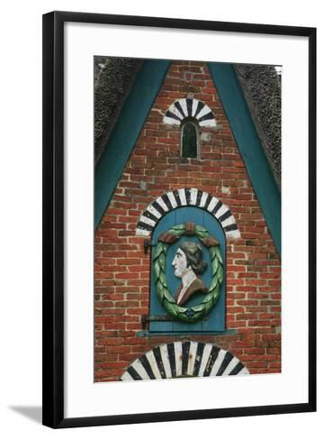 Relief over the Door of a Captain's House at the Frachtenstegelk at Keitum on the Island of Sylt-Uwe Steffens-Framed Art Print