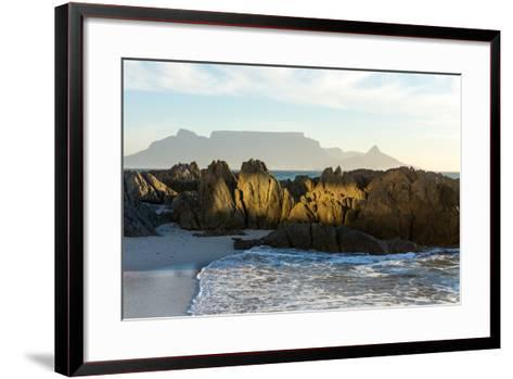 Cape Town, Table Mountain, Bloubergstrand-Catharina Lux-Framed Art Print