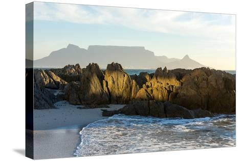Cape Town, Table Mountain, Bloubergstrand-Catharina Lux-Stretched Canvas Print