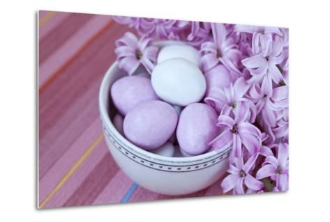 Hyacinth Blossoms and Easter Eggs-Andrea Haase-Metal Print