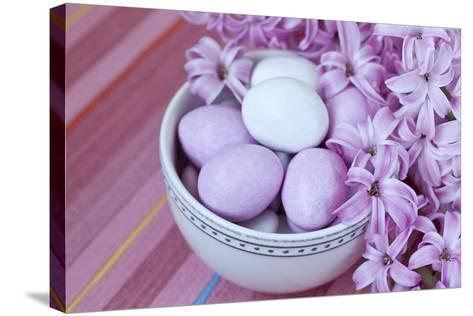 Hyacinth Blossoms and Easter Eggs-Andrea Haase-Stretched Canvas Print