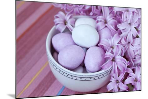 Hyacinth Blossoms and Easter Eggs-Andrea Haase-Mounted Photographic Print
