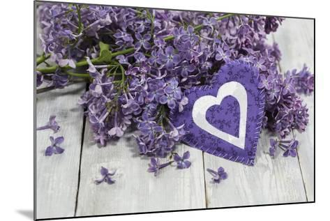 Lilacs, Flowers, Purple, Violet, Heart-Andrea Haase-Mounted Photographic Print