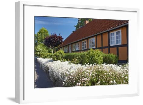 Denmark, Funen, Horne, House Facade, Wall, Flowers-Chris Seba-Framed Art Print