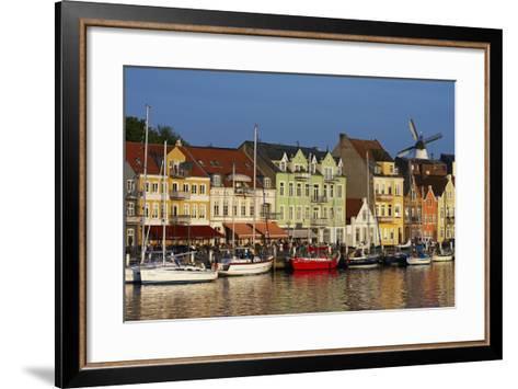 Denmark, Jutland, Sonderborg, Harbour Front, House Facades, Boats-Chris Seba-Framed Art Print