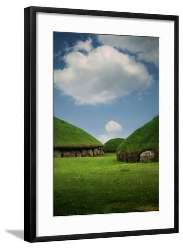 Knowth, Megalithic Ground Near Donore in the Boyne Valley, County Meath, Ireland- Bluehouseproject-Framed Art Print