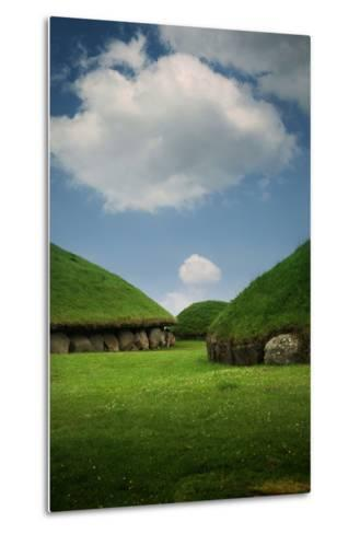 Knowth, Megalithic Ground Near Donore in the Boyne Valley, County Meath, Ireland- Bluehouseproject-Metal Print