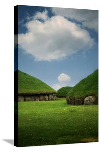 Knowth, Megalithic Ground Near Donore in the Boyne Valley, County Meath, Ireland- Bluehouseproject-Stretched Canvas Print