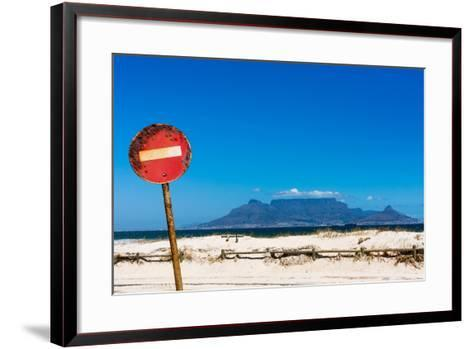 South Africa, Cape Town, Table Mountain, Rusted Sign-Catharina Lux-Framed Art Print
