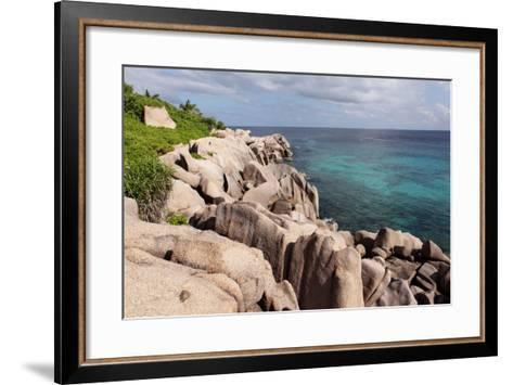 The Seychelles, La Digue, Beach, Rocks, Anse Marron-Catharina Lux-Framed Art Print
