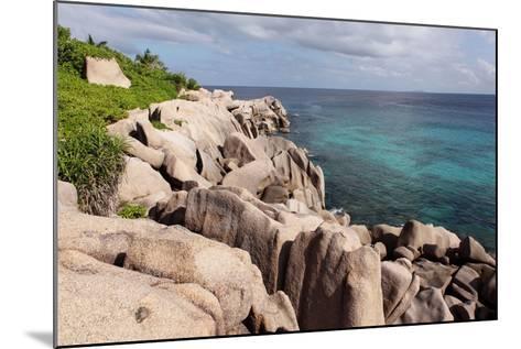 The Seychelles, La Digue, Beach, Rocks, Anse Marron-Catharina Lux-Mounted Photographic Print