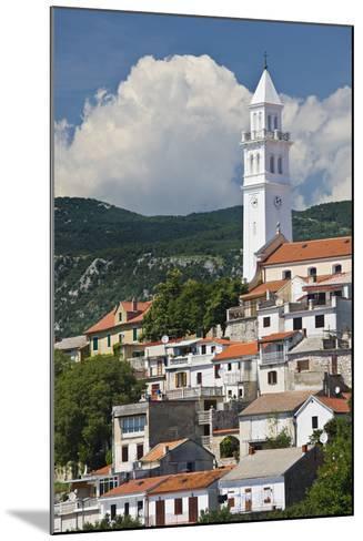 Croatia, Kvarner Gulf, Novi Vinodolski, Church, Roofs, Clouds-Rainer Mirau-Mounted Photographic Print