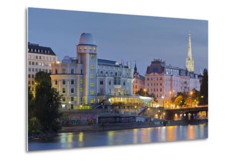Urania, Stephansdom, Vienna River, 1st District, Internal Town, Vienna, Austria-Rainer Mirau-Metal Print