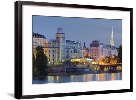 Urania, Stephansdom, Vienna River, 1st District, Internal Town, Vienna, Austria-Rainer Mirau-Framed Art Print