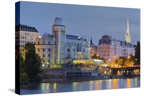 Urania, Stephansdom, Vienna River, 1st District, Internal Town, Vienna, Austria-Rainer Mirau-Stretched Canvas Print