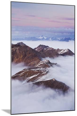Italy, Lombardy, Stilfser Joch National Park, View from Monte Scorluzzo, Rifugio C. Garibaldi-Rainer Mirau-Mounted Photographic Print