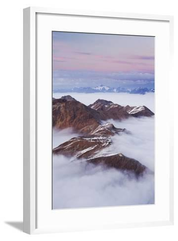 Italy, Lombardy, Stilfser Joch National Park, View from Monte Scorluzzo, Rifugio C. Garibaldi-Rainer Mirau-Framed Art Print