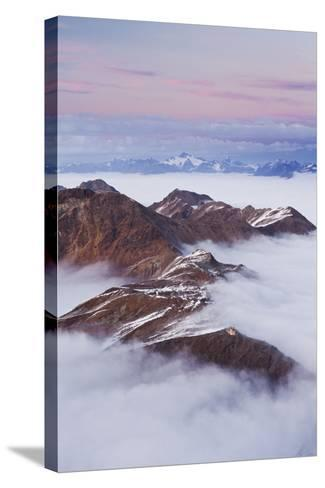 Italy, Lombardy, Stilfser Joch National Park, View from Monte Scorluzzo, Rifugio C. Garibaldi-Rainer Mirau-Stretched Canvas Print