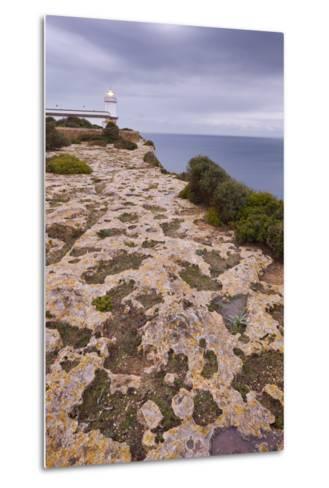 Spain, Majorca, Far De Cap Blanc, Lighthouse, Rock-Rainer Mirau-Metal Print