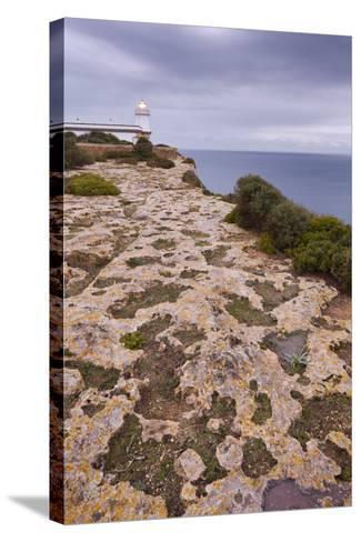 Spain, Majorca, Far De Cap Blanc, Lighthouse, Rock-Rainer Mirau-Stretched Canvas Print