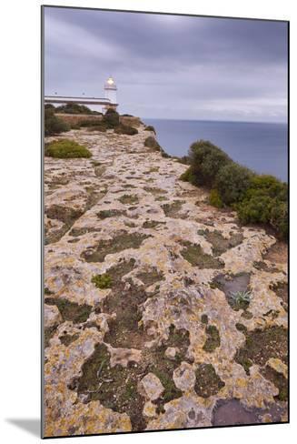 Spain, Majorca, Far De Cap Blanc, Lighthouse, Rock-Rainer Mirau-Mounted Photographic Print