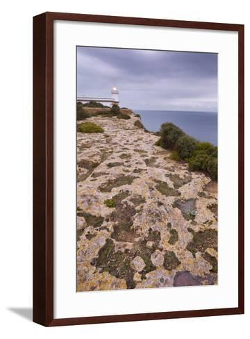 Spain, Majorca, Far De Cap Blanc, Lighthouse, Rock-Rainer Mirau-Framed Art Print