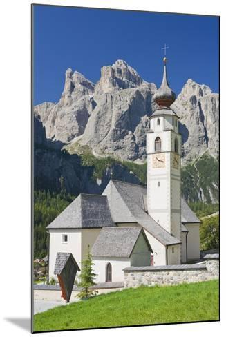 Italy, South Tirol, the Dolomites, Sella, Colfosco Church-Rainer Mirau-Mounted Photographic Print