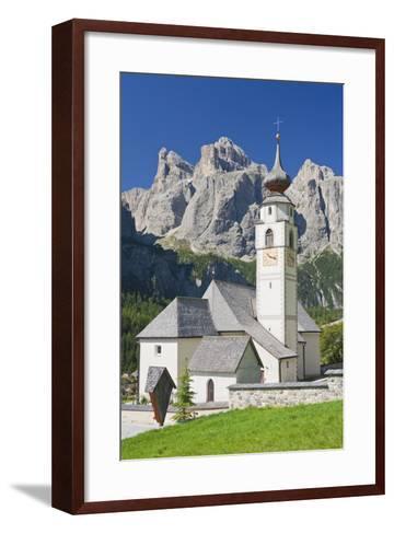 Italy, South Tirol, the Dolomites, Sella, Colfosco Church-Rainer Mirau-Framed Art Print