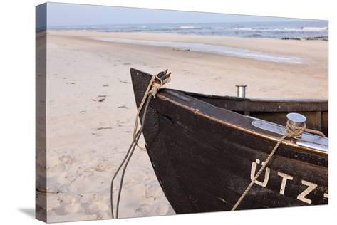 Usedom, Baltic Sea, Beach, Fishing Boat-Catharina Lux-Stretched Canvas Print