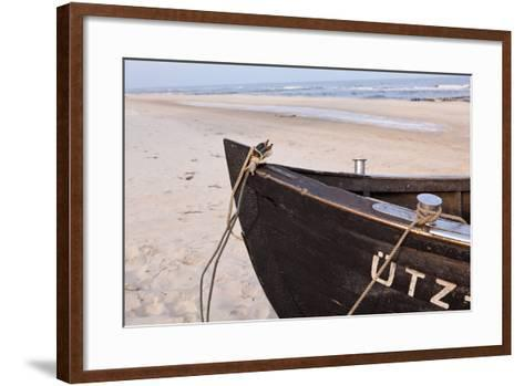 Usedom, Baltic Sea, Beach, Fishing Boat-Catharina Lux-Framed Art Print