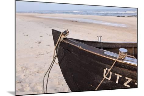 Usedom, Baltic Sea, Beach, Fishing Boat-Catharina Lux-Mounted Photographic Print