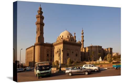 Egypt, Cairo, Mosque-Madrassa of Sultan Hassan, Traffic-Catharina Lux-Stretched Canvas Print