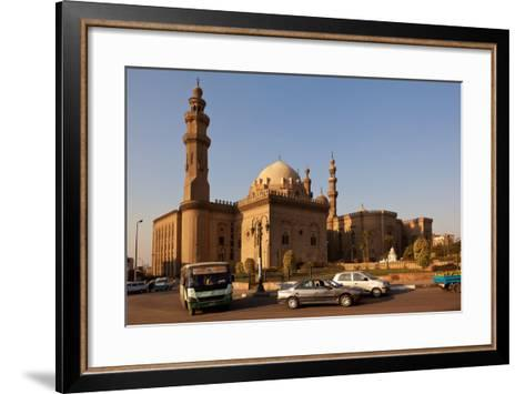 Egypt, Cairo, Mosque-Madrassa of Sultan Hassan, Traffic-Catharina Lux-Framed Art Print