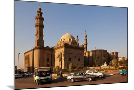 Egypt, Cairo, Mosque-Madrassa of Sultan Hassan, Traffic-Catharina Lux-Mounted Photographic Print