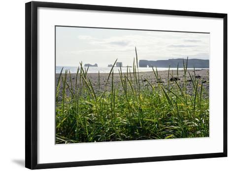 At the Black Sandy Beach of Reynisfjara-Catharina Lux-Framed Art Print