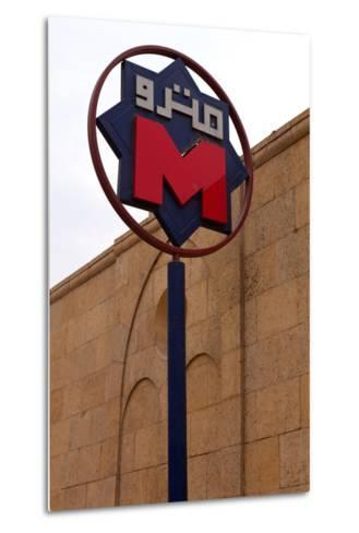 Egypt, Cairo, Coptic Old Town, Metro Station, Sign-Catharina Lux-Metal Print