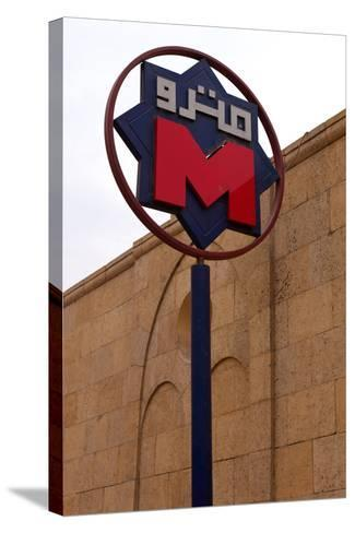 Egypt, Cairo, Coptic Old Town, Metro Station, Sign-Catharina Lux-Stretched Canvas Print