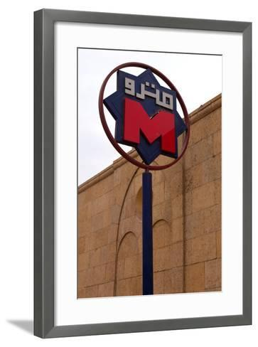 Egypt, Cairo, Coptic Old Town, Metro Station, Sign-Catharina Lux-Framed Art Print