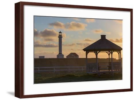 Point Arena Lighthouse and Museum, Arena Rock Marine Natural Preserve, California, Usa-Rainer Mirau-Framed Art Print