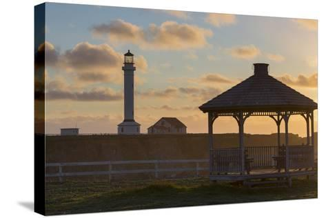 Point Arena Lighthouse and Museum, Arena Rock Marine Natural Preserve, California, Usa-Rainer Mirau-Stretched Canvas Print