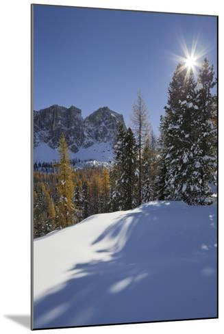Italy, Veneto, Passo Di Giau, Croda Da Lago, the Sun-Rainer Mirau-Mounted Photographic Print