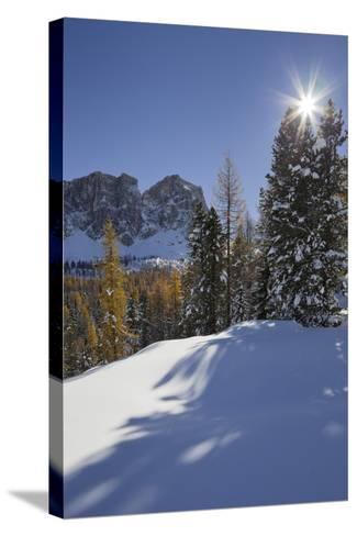 Italy, Veneto, Passo Di Giau, Croda Da Lago, the Sun-Rainer Mirau-Stretched Canvas Print